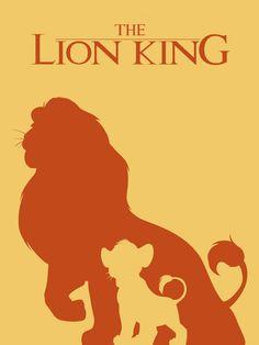Les affiches des films Disney en version minimaliste