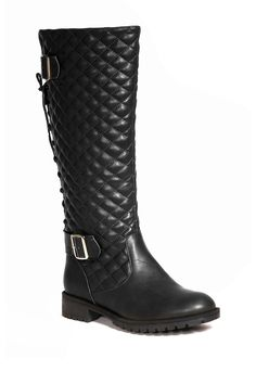 Bucco Quilted Back Lace-Up Tall Boot by Bucco on @HauteLook