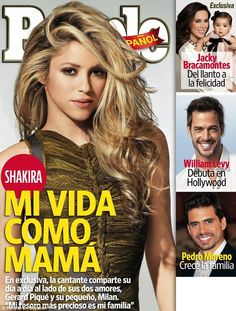 Cover three: Shakira talked about family life and her philanthropic work in the April edition of People En Espanol