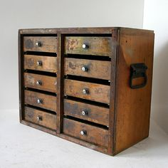 Vintage Shop Cabinet / Industrial Storage by ConceptFurnishings