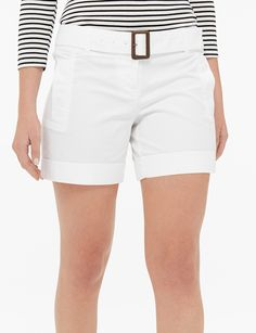 The approach of warm weather calls for shorter hems and lighter fabrics! These everyday shorts are perfect for all of your outdoor adventures. Spring Outfits Women, Summer Outfits, Summer Fashions, Women's Clothing, Shorts With Pockets, Pocket Shorts, Embellished Shorts, Cotton Shorts, Summer Styles