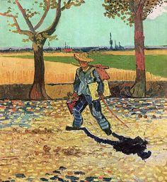 The Painter on the Road to Tarascon, 1888  destroyed by fire in the Second World War. Vincent Willem van Gogh (1853-90)