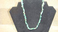 Genuine Green Adventurine chips necklace