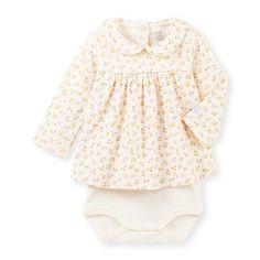 Baby girl's printed blouse-bodysuit