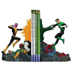 Green Lantern Versus Sinestro Bookend Statue | Gifts For A Geek and Toys