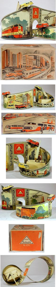 1954 Technofix, No.274 Monorail with Two Cars in Original Box
