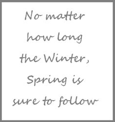 Today is allegedly the first day of Spring.  So excuse me for asking, but quite frankly where are you Spring?