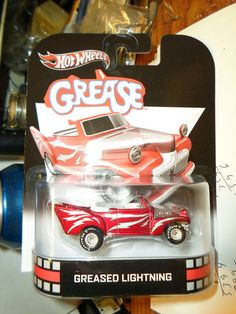 HOT WHEELS 2013 RETRO GREASE GREASED LIGHTNING