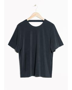 & Other Stories | Black Open Back Cupro Top | Lyst