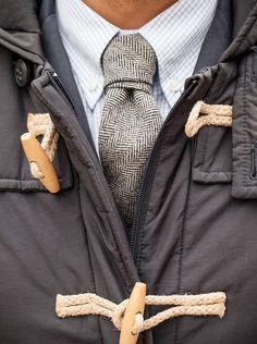 look cravate et parka