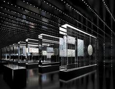 Interior design for Planetarium Дипломный проект on Behance Showroom Design, Shop Interior Design, House Design, Exhibition Display, Exhibition Space, Display Design, Booth Design, Futuristic Interior, Museum Displays