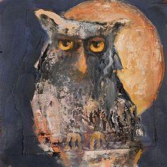 Mel McCuddin - 'The Importance of Knowing' - The Art Spirit Gallery of Fine Art Bird Paintings, Animal Paintings, Abstract Animals, Feather Art, Owl Art, Fish Art, Figure Painting, American Artists, Figurative Art
