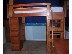 Loft Bed L81 with Natural Cherry + Lacquer Clearcoat