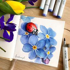 Copic Drawings, Cool Art Drawings, Art Sketches, Copic Marker Art, Copic Art, Marker Pen, Color Pencil Art, Art Sketchbook, Diy Art