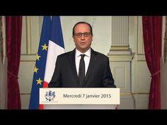 """Dans une allocution solennelle depuis l'Élysée, François Hollande a annoncé une """"journée de deuil national"""" jeudi... #jesuischarlie #charliehebdo"""