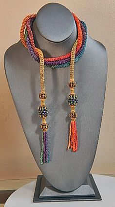 Colorful Tassel Lariat Necklace by Ravit on Etsy, $340.00