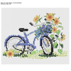 Youll get a STITCH PATTERN of a bike standing by the sunflowers. The canvas I calculated this embroidery for is Aida 14 (size 16*13 cm) and the threads for your future masterpiece are DMC. Youll need threads of 12 colours for this pattern.Youll be able to download 4 files after I receive your payment: the colourful blocks with symbols, black and white symbol chart, a picture of a stitched work and a colour key. Please, use two threads of one colour for your embroidery. For backstitch…
