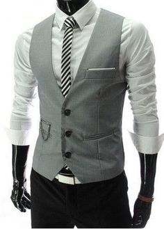 Generous 2018 New Design Gray And Black Vest For Men Wedding Prom Dinner Suit Waistcoats Mens Vests Custom Made Colete Masculino Terno Low Price Vests