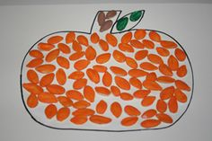 Pumpkin seed pumpkin craft