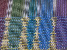 The patterns in patterned double weave are created by the exchange of areas in one layer of cloth with another layer of the same cloth.  Amazing patterns can be woven even on a simple loom using a …