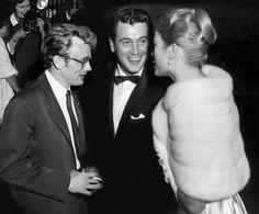 James Dean, Rock Hudson and Grace Kelly