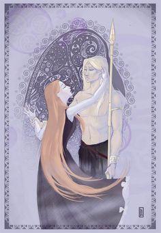 Lorsque Morrigan tente de séduire Cuchulain ...      Source Illustration: http://leslieboulay.com/2012/09/20/toujours-en-plein-dedans/