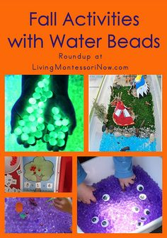 Fall Activities with Water Beads