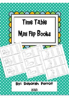 Time Table Flip Books in an Australian Animal theme.  Designed for multiple student usage.$2.00 Wombat Stew, Table Flip, Flip Books, Times Tables, Australian Animals, On Set, Flipping, Printables, Student