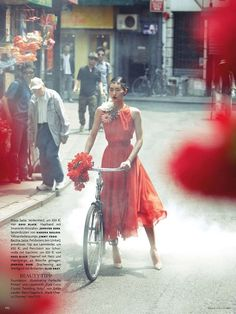 Liu Wen by Alexi Lubomirski for Vogue Germany August 2012