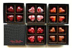The Mini Love Boxes by Alice Bentley www.alicebentleychocolates.com