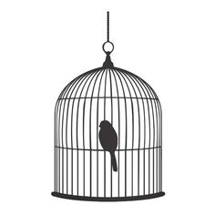 Ferm Living Birdcage wall sticker, small ($58) ❤ liked on Polyvore
