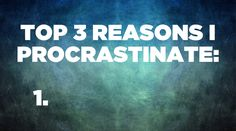 Procrastination EXPERT weighs in on how to overcome procrastination.