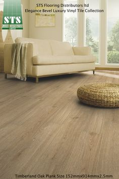"""Timberland Oak is from the Elegance Royale Collection and is a fantastic looking traditional oak floor. This hardwearing floor has .55mm wear layer, micro bevelled edge and a treated PUR + surface, giving a """"T"""" abrasion rating."""