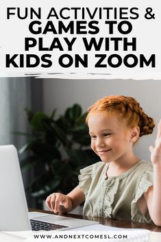 Games to Play with Kids on Zoom - Let kids connect with their friends and family with these fun Zoom games and activities. Virtual Games For Kids, Games For Kids Classroom, Games To Play With Kids, Classroom Activities, Virtual Class, Outside Games For Kids, Kindergarten Games, Kid Games, Group Games