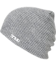 14931f0726e The Neff Daily slouch beanie is the ultimate in classic head wear. This  grey Neff