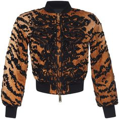 Dsquared2     Embroidered Mini Bomber Jacket (32.120 RON) ❤ liked on Polyvore featuring outerwear and jackets