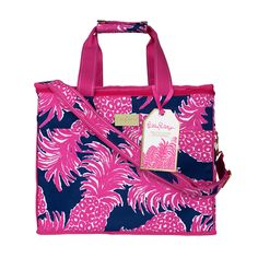 Poolside & sunny skies is more than a state of mind when you're toting this colorful cooler. Beat the heat by keeping all your refreshments cool for happy hour, no matter how long it may be. Handles with snap closure Adjustable shoulder strap Gold Lilly Pulitzer® logo plaque: Water-resistant Micro-fiber exterior with EVA lining Lilly …