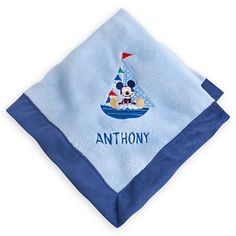 Mickey Mouse Plush Blanket for Baby - Personalizable $19.95