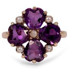The Yaritza Ring, 1950's amethyst: