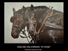 "Western Art by Adeline Halvorson, ""At Ease"""