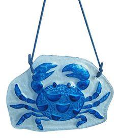 Blue Crab Christmas Holiday Glass Ornament December Diamonds