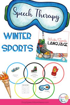Winter Sports are a great topic for speech and language therapy! This activity packet includes 5 activities to be use in small group for speech therapy, intervention, ELA small group, or ESL classes.