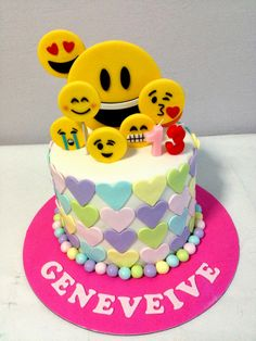 Birthday Cake Emoji Art : 7th Birthday Cakes on Pinterest Disco Cake, Cake Images ...