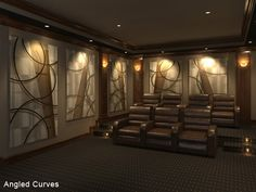 Artistic And Gorgeous Acoustic Panel For Your Home Theater Decoration ...