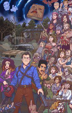 Ash Versus Evil Dead, Ash Evil Dead, Evil Dead Trilogy, Evil Dead Series, Arte Horror, Horror Art, Culture Pop, Geek Culture, Bruce Campbell Evil Dead