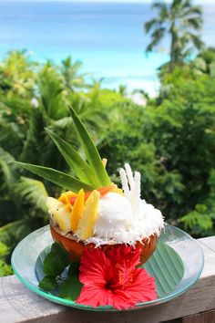 Tropical Sundae Dream _ Four Seasons Resort Pastry Chef, Dessert Team of Four Seasons Resort, Seychelles (An island country made up of 115 islands in the Indian Ocean)