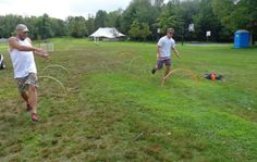 Summer Camp theme day ideas: Olympic Hurdles-We got large hoola-hoops and cut them in half. After they were cut we secured them in the ground and our first annual hurdle event was on! Summer Camp Themes, Summer Ideas, Summer Fun, Theme Days, Camping Theme, Hurdles, Olympics, Activities