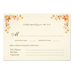 DealsAutumn Foliage Wedding RSVP Card with Envelopetoday price drop and special promotion. Get The best buy