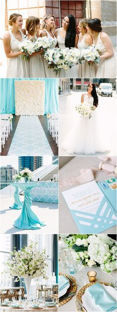Featured Photographer: Mango Studios; blue and white wedding ceremony and reception ideas