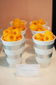 Birthday party snack cups